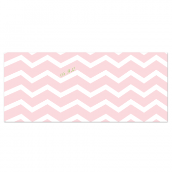 Chevron Save the Date Card (Back)