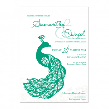 Peacock Wedding Invite