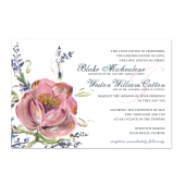 Blushing Bride Wedding Invite