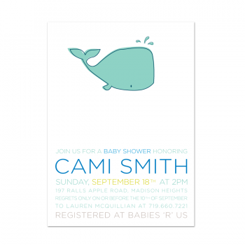 Whale of a Time Baby Shower Invite