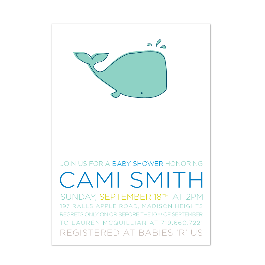 2348d02af8c58a Whale of a Time Baby Shower Invite