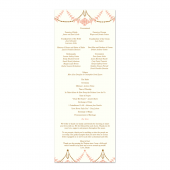 Blushing Wedding Program