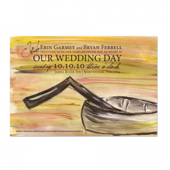 River Wedding Invite