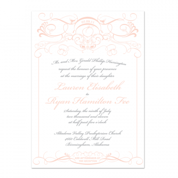 Georgia Peach Wedding Invitation