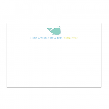 Whale of a Time Thank You Note Card