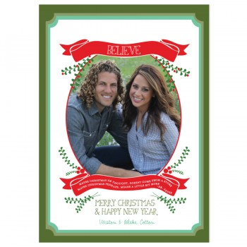 Believe Holiday Card