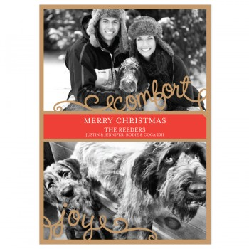 Comfrot & Joy Holiday Card