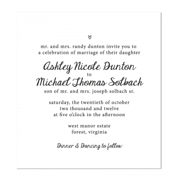 Heart Wedding Invite