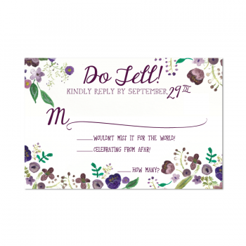 A Tennessee Wedding Reply Card