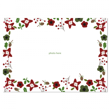 Holiday Flowers Photo Card